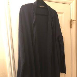 ASOS long cardigan for men in Navy